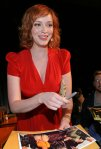 """Actress Christina Hendricks attends panel, part of the """"Mad Men"""" panel, part of the 25th annual William S. Paley Television Festival held at the Arclight Cinemas on March 27, 2008 in Hollywood, California."""